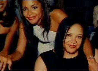 Aaliyah with her mom, Diane