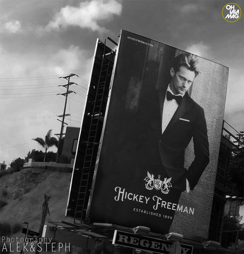 Alexander Skarsgård Billboard on Sunset Boulevard for Hickey Freeman