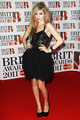 Avril Lavigne on the Red Carpet at the 2011 Brit Awards