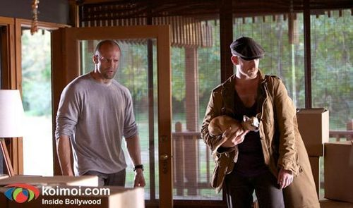 Ben Foster & Jason Statham as Steve McKenna & Arthur Bishop