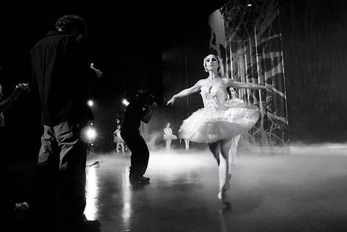 Black swan behind the scenes