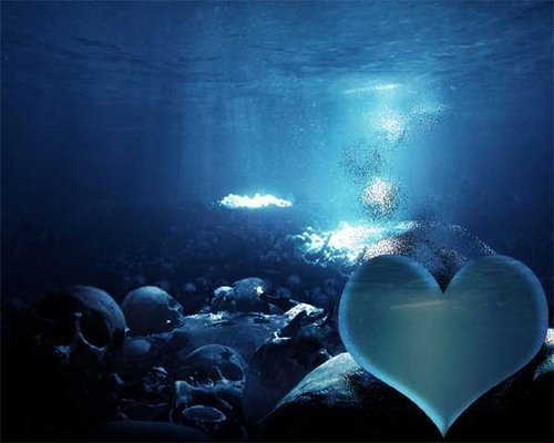 Blue heart - love Photo