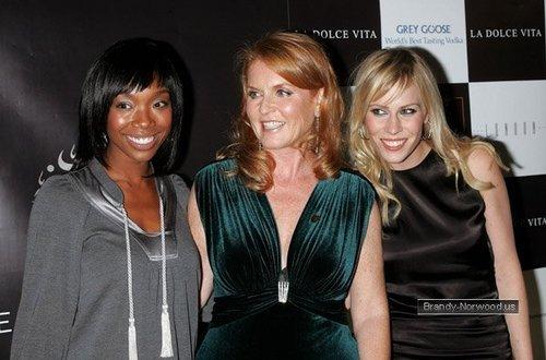 ব্র্যান্ডি @ La Dolce Vita Benefit for the Sarah Ferguson Foundation - Arrivals