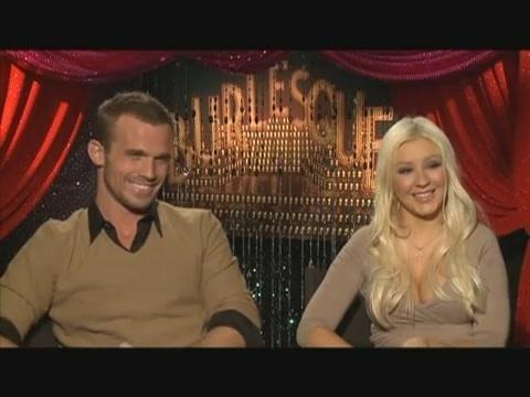 Cam Gigandet and Christina Aguilera, Burlesque Interview