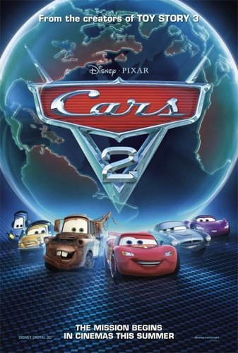 Disney Pixar Cars 2 wallpaper possibly with a sign entitled Cars2-cover!