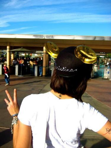 Christina at Disneyland/world