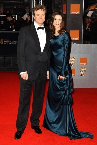 Colin Firth wallpaper with a business suit titled Colin Firth in Bafta awards 2011