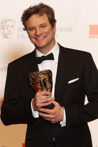 Colin Firth wallpaper with a business suit, a suit, and a dress suit titled Colin Firth in Bafta awards 2011