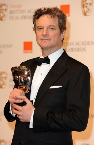 Colin Firth in Bafta awards 2011
