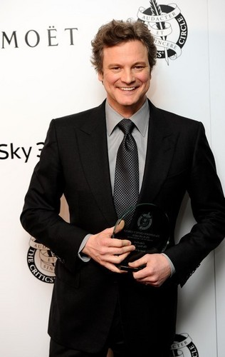 Colin Firth in London Critics cirkel 2011