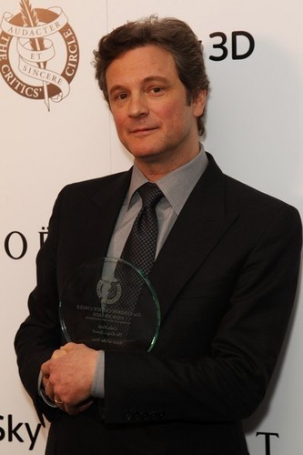 Colin Firth in Londres Critics cercle 2011