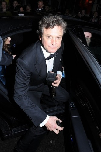 Colin Firth in a post-BAFTAs party at the W Londres