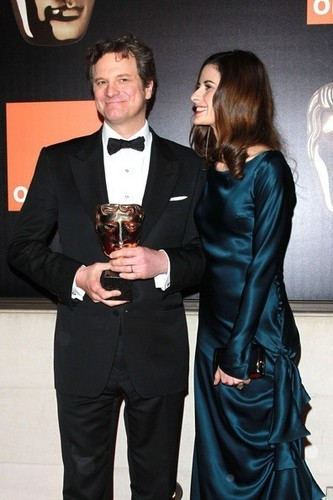 Colin Firth in a post-BAFTAs party at the W London