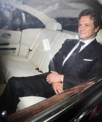 Colin Firth karatasi la kupamba ukuta possibly with a business suit entitled Colin Firth in a pre-BAFTA chajio, chakula cha jioni at automat restaurant in London 20110211