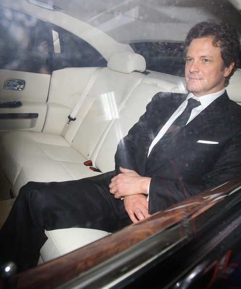 Colin Firth in a pre-BAFTA dinner at Automat restaurant in London 20110211