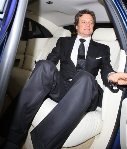 Colin Firth in a pre-BAFTA dîner at automat, automate restaurant in Londres 20110211
