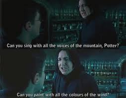 Colors of the Wind Harry Potter Style