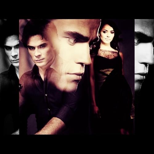 Vampire Diaries Fernsehserie Bilder Damon Bonnie Stefan