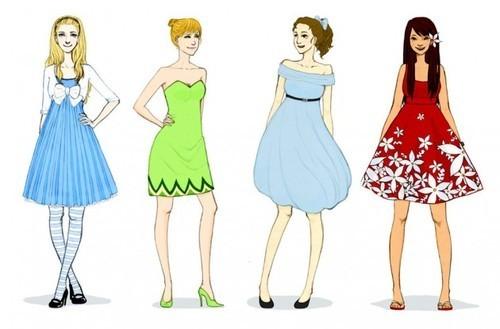 disney princesses' new clothes