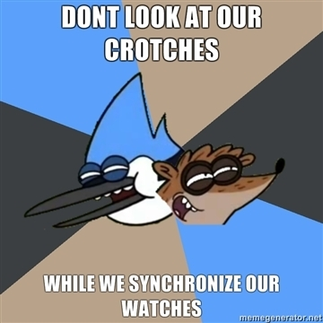 Don't Look at our crotches