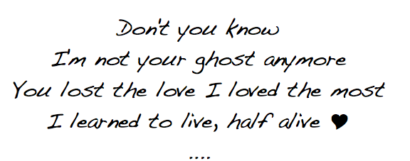 Jar Of Hearts images Don't You Know I'm Not Your Ghost Anymore ...
