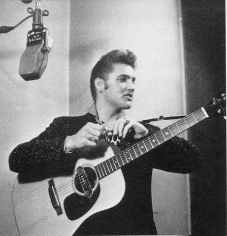 Elvis Presley wallpaper possibly with a guitarist and an acoustic guitar called Elvis