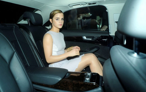 Emma leaving the 2011 Elle Style Awards