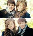 Georgie Henley and Skandar Keynes