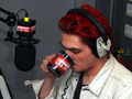 Gerard way at Kerrang! radio taking some Coffe :D