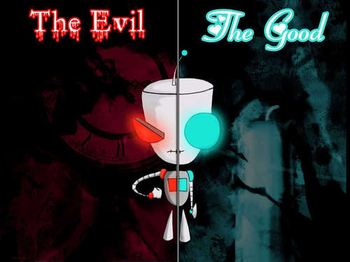 Invader Zim images Gir both sides HD wallpaper and background photos