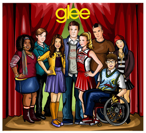 Glee wallpaper probably containing anime called Glee Fanart