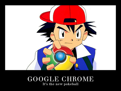 구글 Chrome is the new Pokeball!