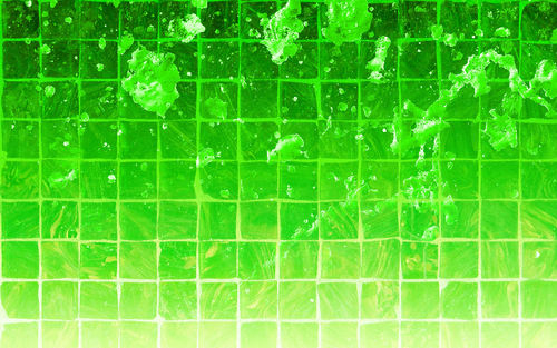 Green Splatter Tile wallpaper