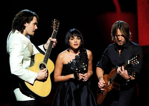 Keith, John Mayer and Norah Jones at the 53rd Annual GRAMMY Awards