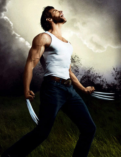 Hugh Jackman as Wolverine wallpaper probably containing a hip boot and a sign entitled Logan