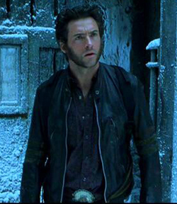 Hugh Jackman as Wolverine wolpeyper with a kalye and a penal institution called Logan