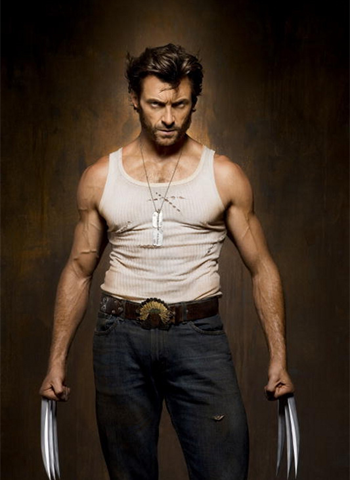 Hugh Jackman as Wolverine wolpeyper possibly with a pantleg, bellbottom trousers, and long trousers entitled Logan