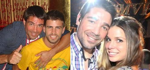 Gerard Piqué wallpaper titled Marc Callico at first  embraced by Gerard Piqué and then he took  his former girlfriend Nuria ...