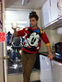 Matthewand his Minnie Mouse sweater