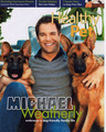 Michael Weatherly and his two German Sheperds