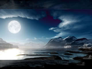 Moon&sea