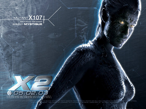 X-men THE MOVIE wallpaper possibly containing a sign called Mystique