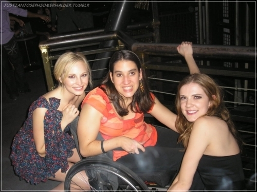 New/Old photo of Candice with Sara Canning and a fan!