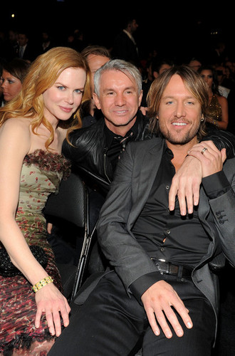Nicole, Keith and Baz at the 53rd Annual GRAMMY Awards