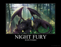 Night Fury Motivator - how-to-train-your-dragon fan art