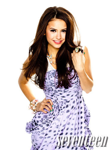 Nina Dobrev on seventeen magazine photo shoot april, 2010