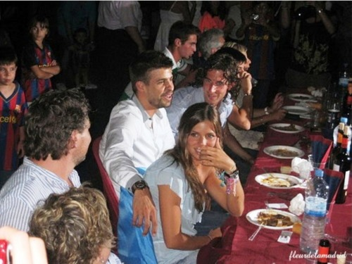 Nuria and Gerard at the time when they were happy together!