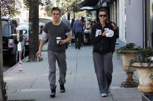 Paul Wesley & Torrey DeVitto - Valentine's Lunch Date