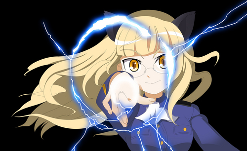 Strike Witches wallpaper titled Perrine H Clostermann: Railgun