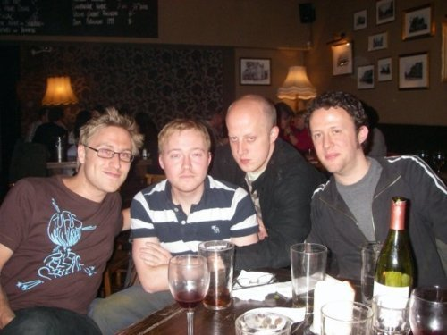 Russell Howard, Daniel Howard, Marek Larwood and ? - russell-howard Photo